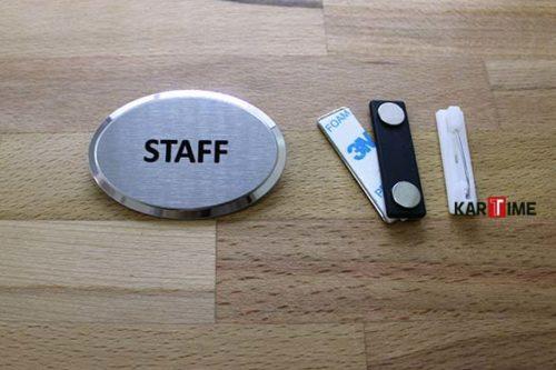 Elips Staff Metal Yaka Kartı
