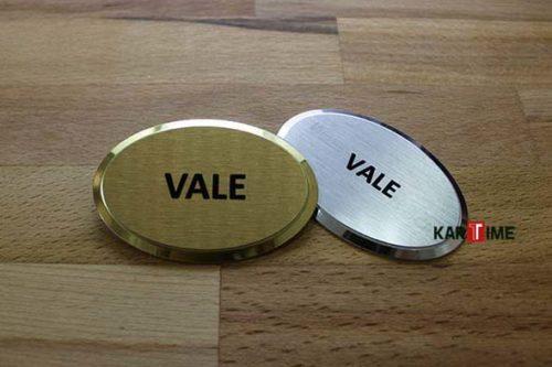 Elips Vale Metal Yaka Kartı