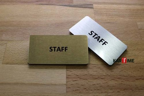 Staff Metal Yaka Kartı