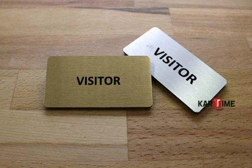 Visitor Metal Yaka Kartı